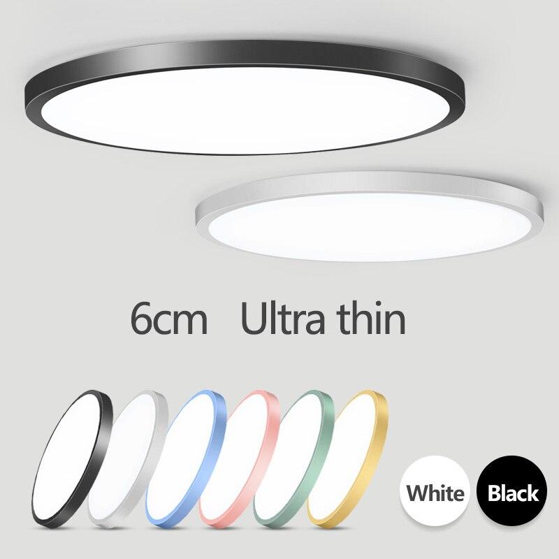 Nórdico moderno Luz de techo Led AC165-265V lámpara de techo Panel LED redondo de luz para la sala de cocina accesorio de iluminación para el hogar