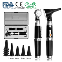 Otoscopio bombilla LED de diagnóstico Otoscopio para el cuidado de la oreja, limpiador profesional de endoscopio para oreja con 8 puntas