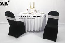 Красивая двухсторонняя повязка на стул с блестками Блестящая