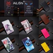 AiLiShi LG kılıfı Q70 Q7 Huawei 10e NUU a6L Meizu M10 InFocus A3 Flip deri kılıf kapak telefonu çanta kart yuvası