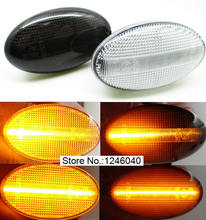 2PCS Dynamische Led Seite Marker Blinker anzeige Sequentielle blink Licht lampe Für Subaru Impreza WRX Sti 02 07 Forester, liberty