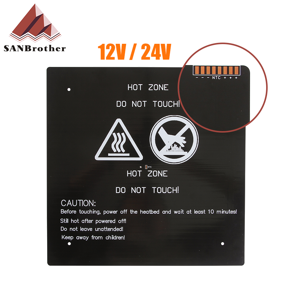 310*310*3.0mm 3D Printer Parts 1PCS black MK3 hotbed latest Aluminum heated bed for Hot-bed Support