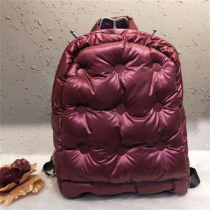 Image 3 - 트렌디 배낭 공간 면화 방수 따뜻한 배낭 캐주얼 단색 학생 배낭 숙녀 배낭의 한국어 버전
