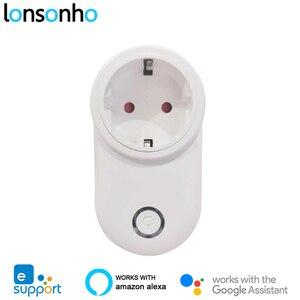 Смарт-розетка Lonsonho eWeLink, Wifi, ЕС, США, Великобритания, совместимая с Alexa, Google Home, мини, умная домашняя Автоматизация