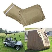 Водонепроницаемый чехол для 4 пассажиров гольф-кары Защитная крышка устойчивая к ультрафиолетовому излучению Крышка для EZ GO Club Car Taupe для хранения на молнии