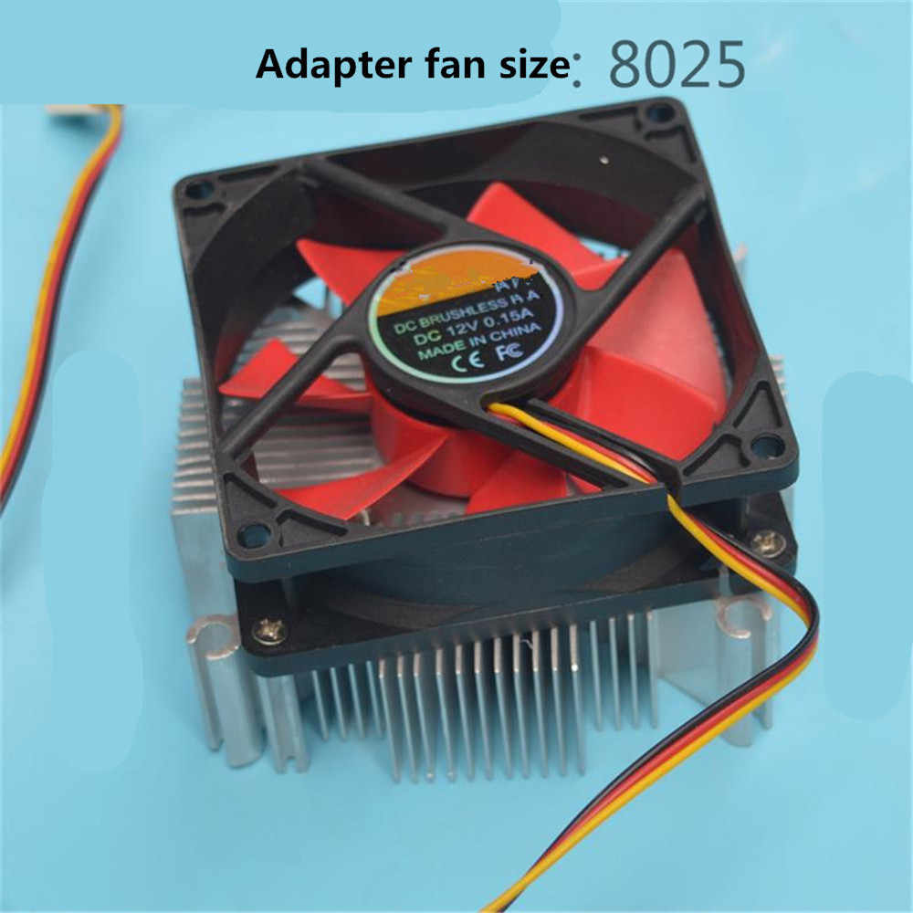 10 واط-200 واط cob أنبوب تدفِئة led ألومنيوم نقي و DC12V مروحة مع 34*34 مللي متر ثقب multichip Led التبريد لتقوم بها بنفسك led تنمو ضوء