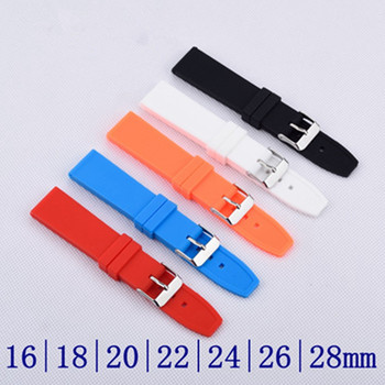 16 18 20 22 24 26 28 mm Waterproof Rubber / Silicone Sport Watch Band Strap Watchband + Stainless Buckle Watch Bracelet +Tools leather watchband strap 12 14 16 18 19 20 22 24 mm stainless steel buckle men women replace band watch accessories