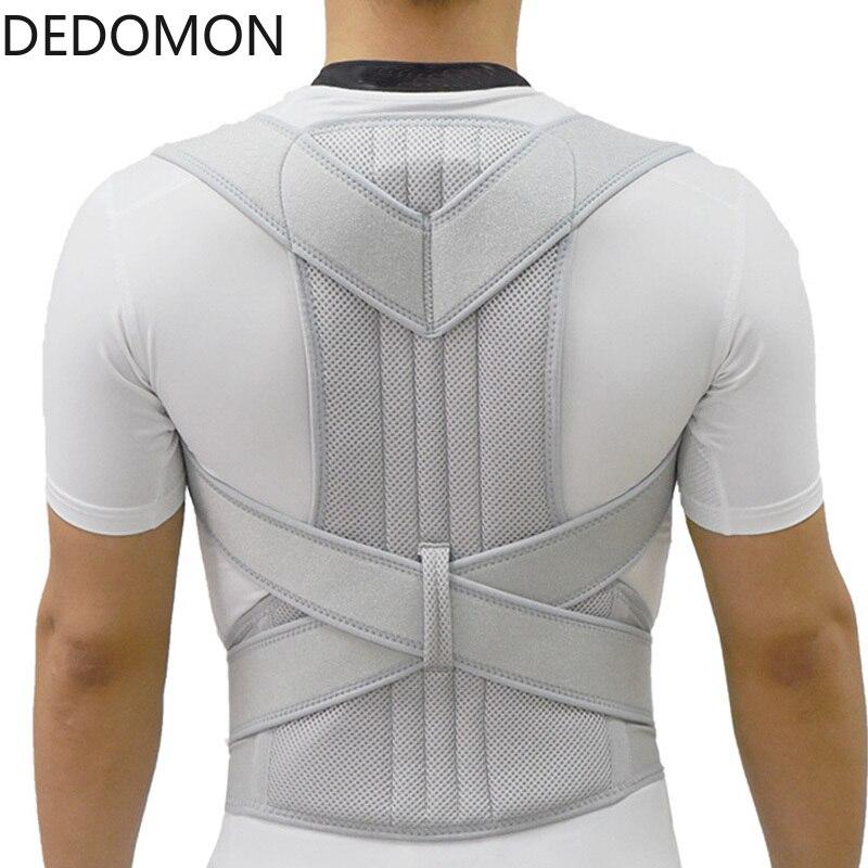2019 Silver Posture Corrector Scoliosis Back Brace Spine Corset Belt Shoulder Therapy Support Poor Posture Correction Belt Men
