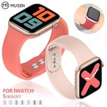 Мягкий силиконовый сменный спортивный ремешок для 38 мм Apple Watch Series1 2 3 4 5 42 мм наручный браслет ремешок для iWatch Sports Edition