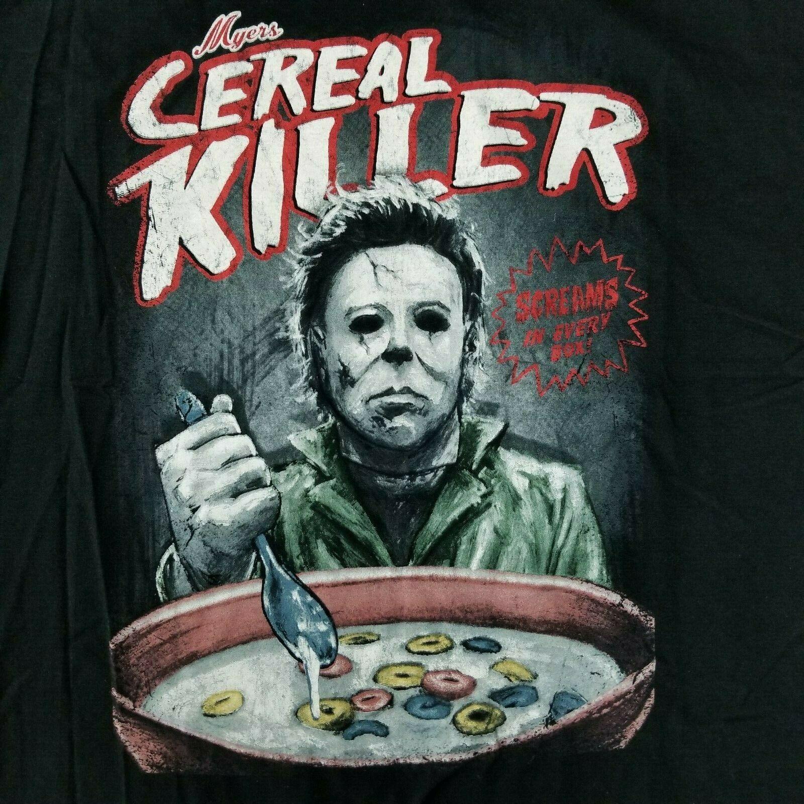Halloween Michael Myers Men'S 2Xl T-Shirt Cereal Killer Licensed Horror Movie