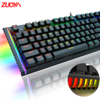 ZUOYA Mechanical Keyboard Russian English gaming Red blue black Switch Metal Wired LED RGB/MIX Anti-Ghosting PC laptop gamer