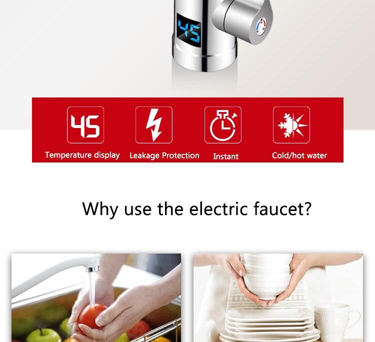 quente elétrica 3 segundos aquecimento rápido display