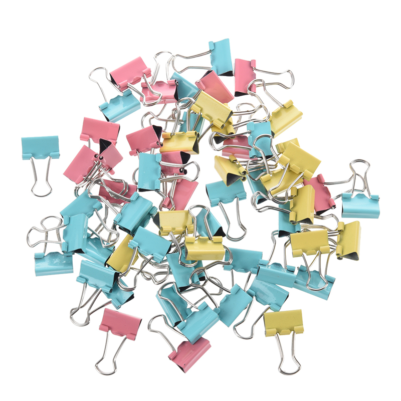 SODIAL(R) 60 Assorted Office Organize Mini Metal Binder Clips 15mm