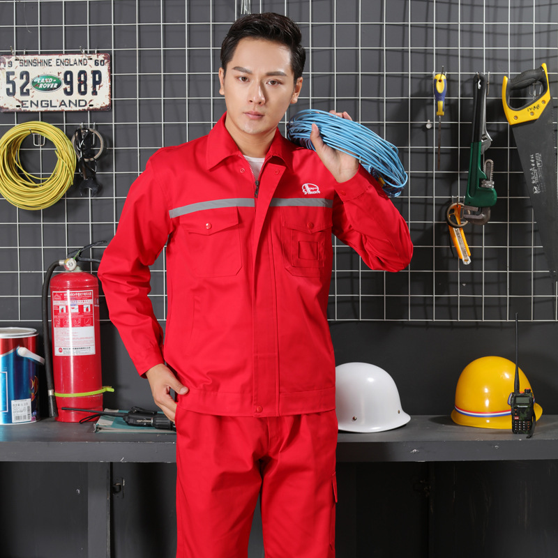 Anti-static Overall Suit Long Sleeve Thin Electrician Long Sleeve Gas Station Sinopec Clothing