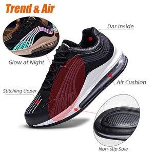 Image 2 - Tend baskets chaussures décontractées Mesh pour hommes, chaussures de course à coussin dair, de sport respirantes, à lacets