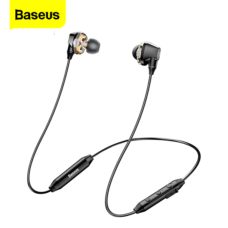Baseus S10 Bluetooth Earphone Wireless Headphone For Phone IPX5 Dual Driver Headset With Mic Sport Earbuds Casque fone de ouvido|Bluetooth Earphones & Headphones| |  - AliExpress