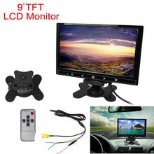 9 Inch 800 x 480 Car RGB Digital Display 2 Video Input Rear View VCR Monitor with Touch Button New