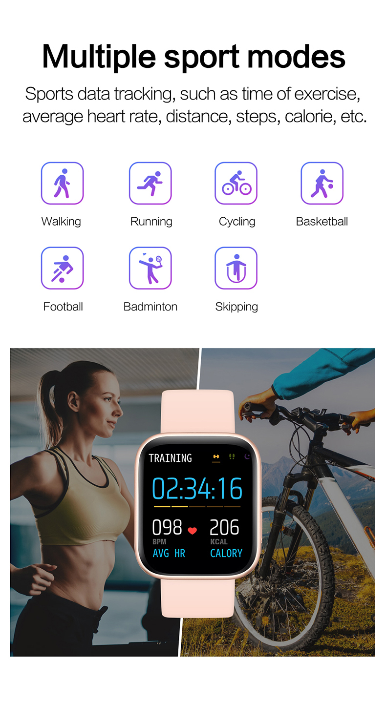 Smart watch sports TKYUAN P4, water resistant, control, sleep, heart rate Sport Modes
