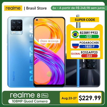 realme 8 Pro Global Version 6GB 128GB Support NFC108MP Camera 50W SuperDart Charge AMOLED With NFC 50W Quick Charger 1