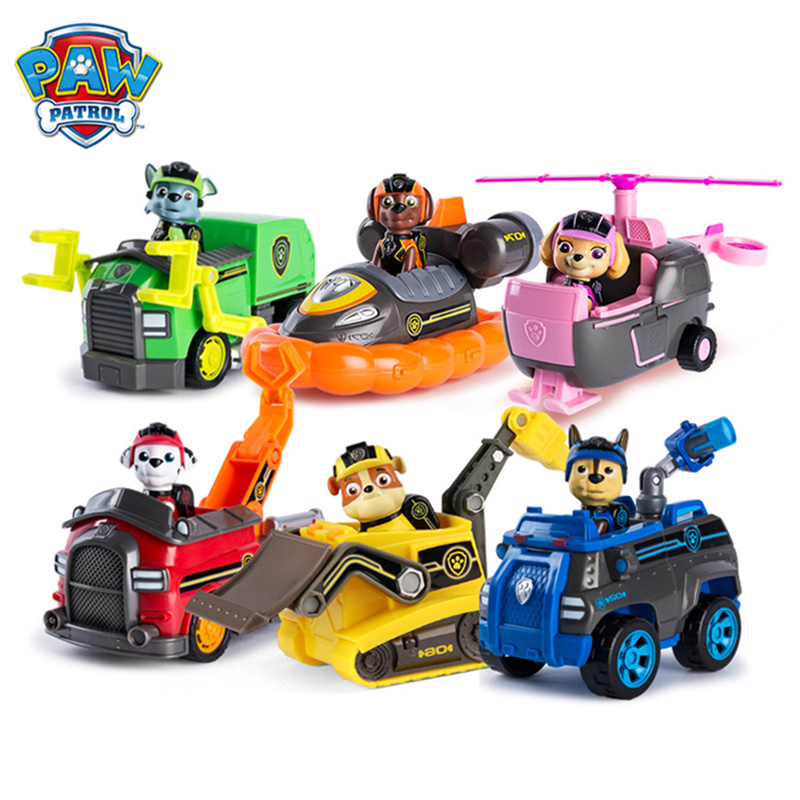Original Paw Patrol Mission Rescue Toys Set Truck Spin Master Mission Paw Vehicle Toy Anime Action Figure Toys Gift