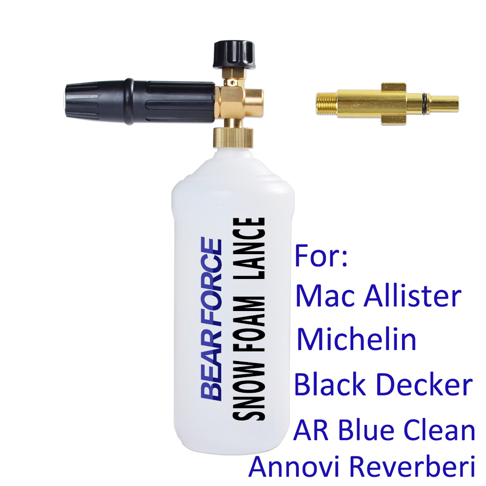 Espuma arma gerador de espuma bico de espuma para mac allister michelin black decker ar azul limpo annovi reverberi lavadora de alta pressão