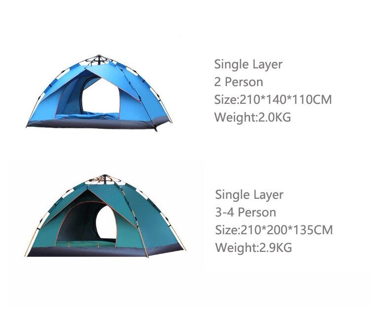 2019 палатки, палатки для кемпинга, для 1-4 человек, туристические, 4 сезона, семейные, для путешествий, пляжный лагерь, палатки, легко открывающи...