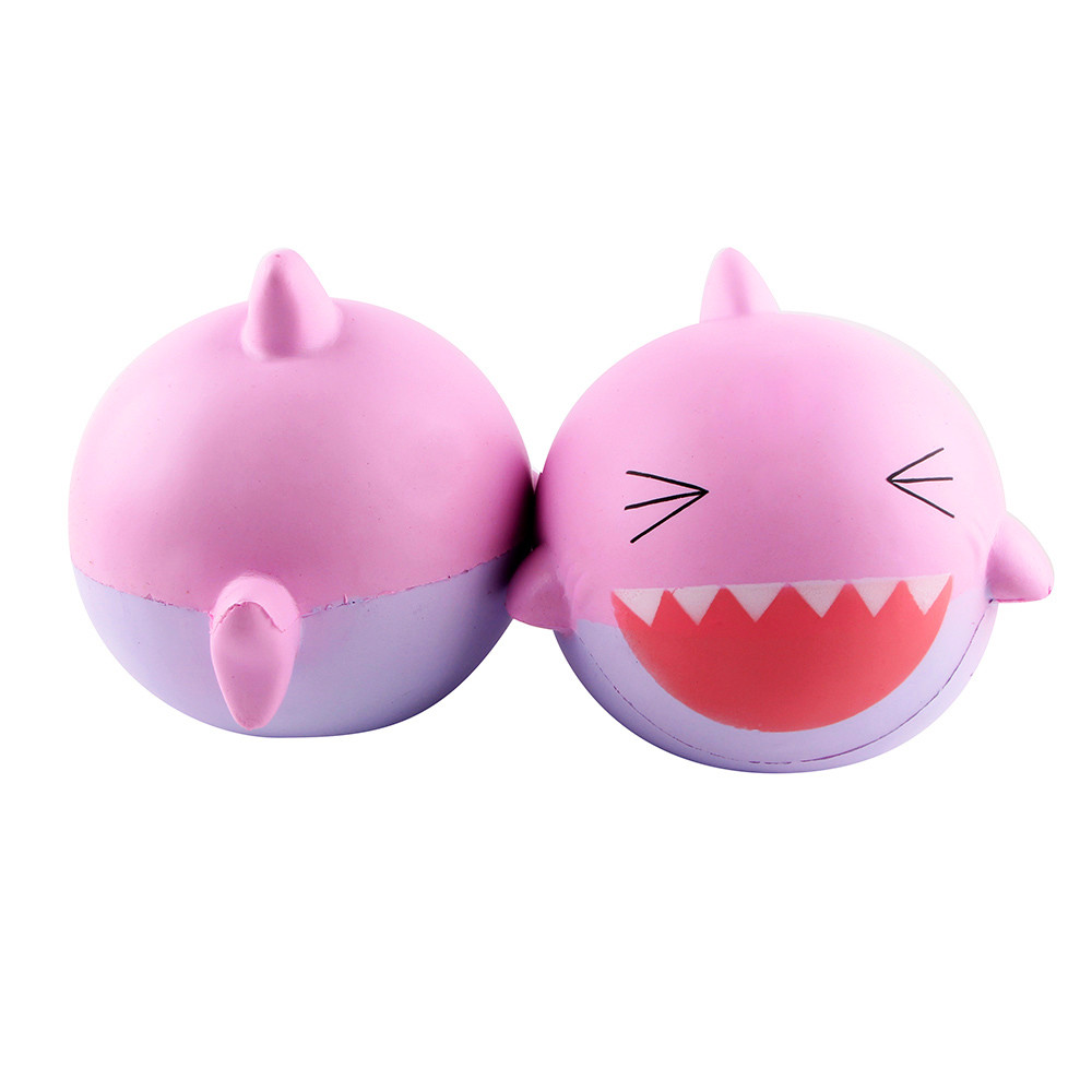 New Sguishy 15cm Pink Lovely Happy Fhis Scented Squishy Slow Rising Squeeze Toys Collection Squeeze Toy Funny Gift For Kid