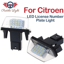 цена на 2Pcs Car Error Free LED Number License Plate Light For Citroen C3 C4 Picasso C5 Berlingo Saxo Xsara Picasso