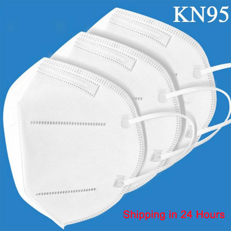 KN95 Face Dust Mask N95 Mask 5-Ply Nonwoven Safety Protective Mask Anti-Haze Fog PM2.5 Enhanced Protection Face Masks Express