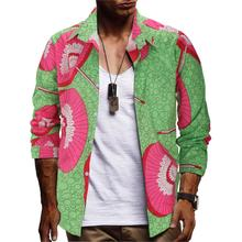 fashion eu size mens casual shirts long sleeve 3d floral print dress 2019 new printed shirt men