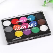 15 Colors Non-toxic Artist Washable Kids Face Watercolor Paint Solid Pigment Makeup Tool