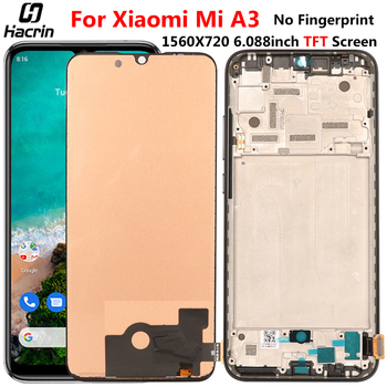 TFT Display For Xiaomi Mi A3 LCD Display With Frame Touch Screen Replacement Digitizer Assembly For Xiaomi Mi A3 A 3 LCD Display 6 39amoled for xiaomi mi 9 lcd mi9 display digitizer assembly touch screen m1903f replacement xiaomi mi9se lcd mi 9 mi9 se