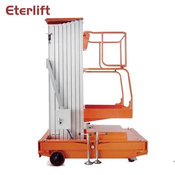 Mast single post aerial aluminium work platform automobile lift