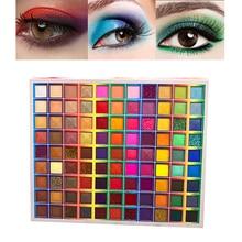 Brasilianische Karneval 99 Farben Lidschatten Make-Up Palette Regenbogen Bunte Perlglanz Matte Glitter Schimmer Seidige Lidschatten Palette