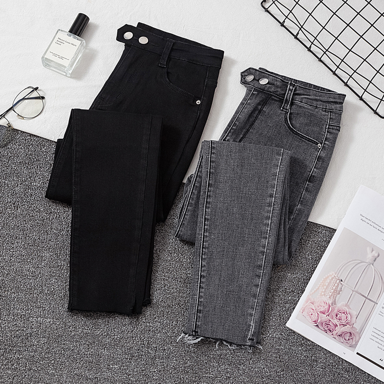 Woman Skinny Jeans High Waist Elastic Show Slim Denim Pants For Woman Autumn Spring Casual Jeans Female