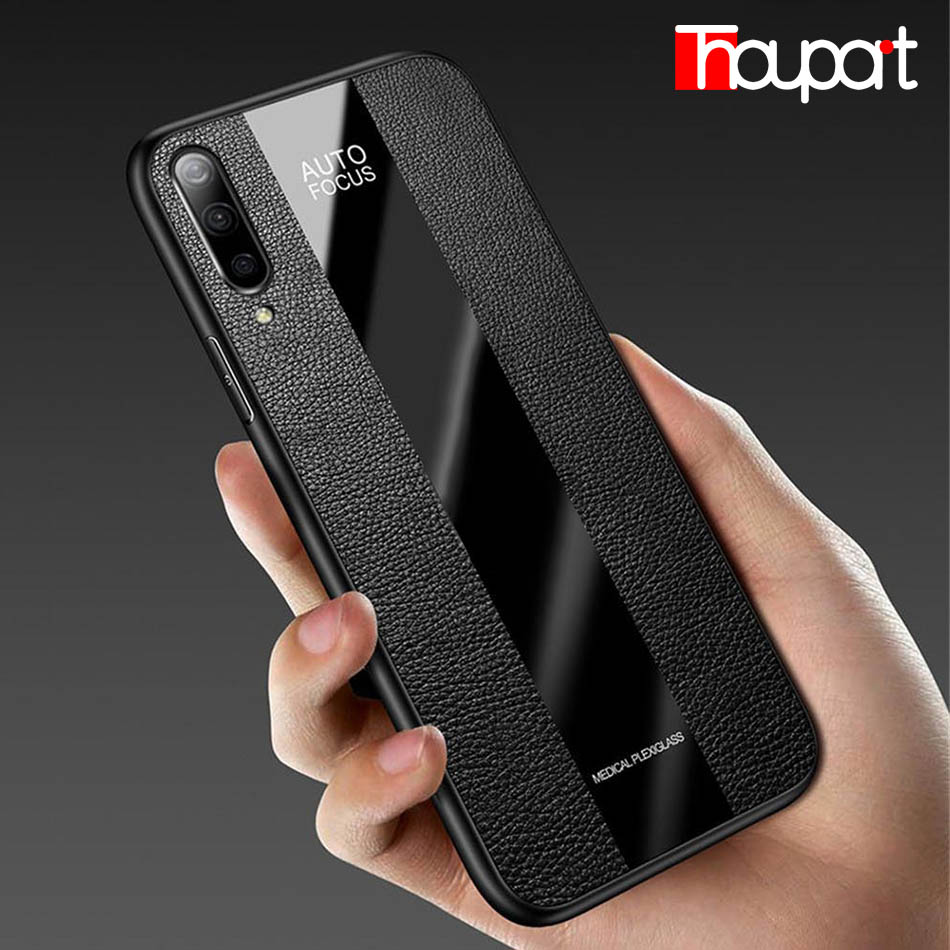 Luxury <font><b>Silicone</b></font> <font><b>Case</b></font> For <font><b>Samsung</b></font> Galaxy <font><b>A70</b></font> A70S Splicing PU Leather Acrylic Glass Phone Fitted Cover For <font><b>Samsung</b></font> <font><b>A70</b></font> <font><b>Case</b></font> 2019 image