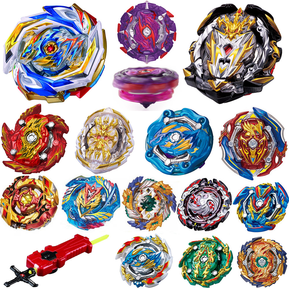 All Models Launchers <font><b>Beyblade</b></font> Burst GT Toys Arena Metal God Fafnir Spinning Top Bey Blade Blades Toy image