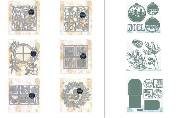 Corte francês dados para diy scrapbooking/álbum de fotos decorativo gravando cartões de papel diy
