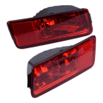 1Pair Lens Left &Right Rear Bumper Reflector Brake Tail Light Fog Lamp Red Car Plastic Fit For Dodge Journey MPV 2008-2010 2011