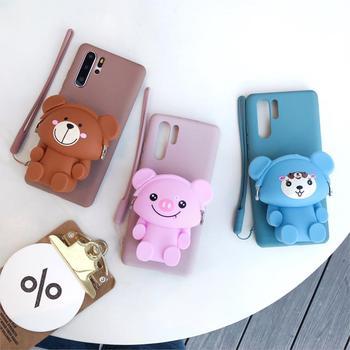 Para Huawei P9 10 20 30 lite Pro Mate 10 20 30 llite Y5 Y6 Y7 Y9 Psmart Honor 7c 8x 9x Cartera de oso de Koala suave TPU caso