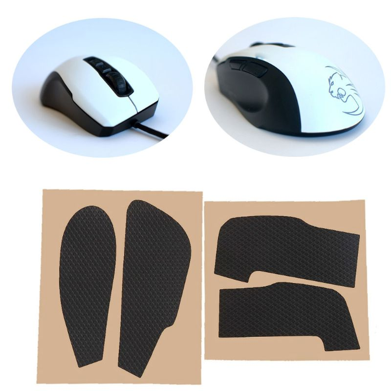 Original Hotline Games Mouse Skates Side Stickers Sweat Resistant Pads Anti-slip Tape For Roccat Kone Pure Mouse   QX2B