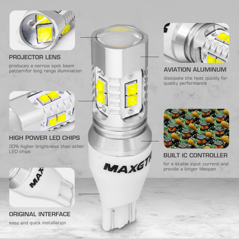 Image 5 - 2x CREE Chip XBD 50W T15 W16W 921 912 LED Backup Light 12V 24V Car Reversing Bulb Backup Light Turn Signal Light Brake Lamplamp linklamp commanderlamp effects -