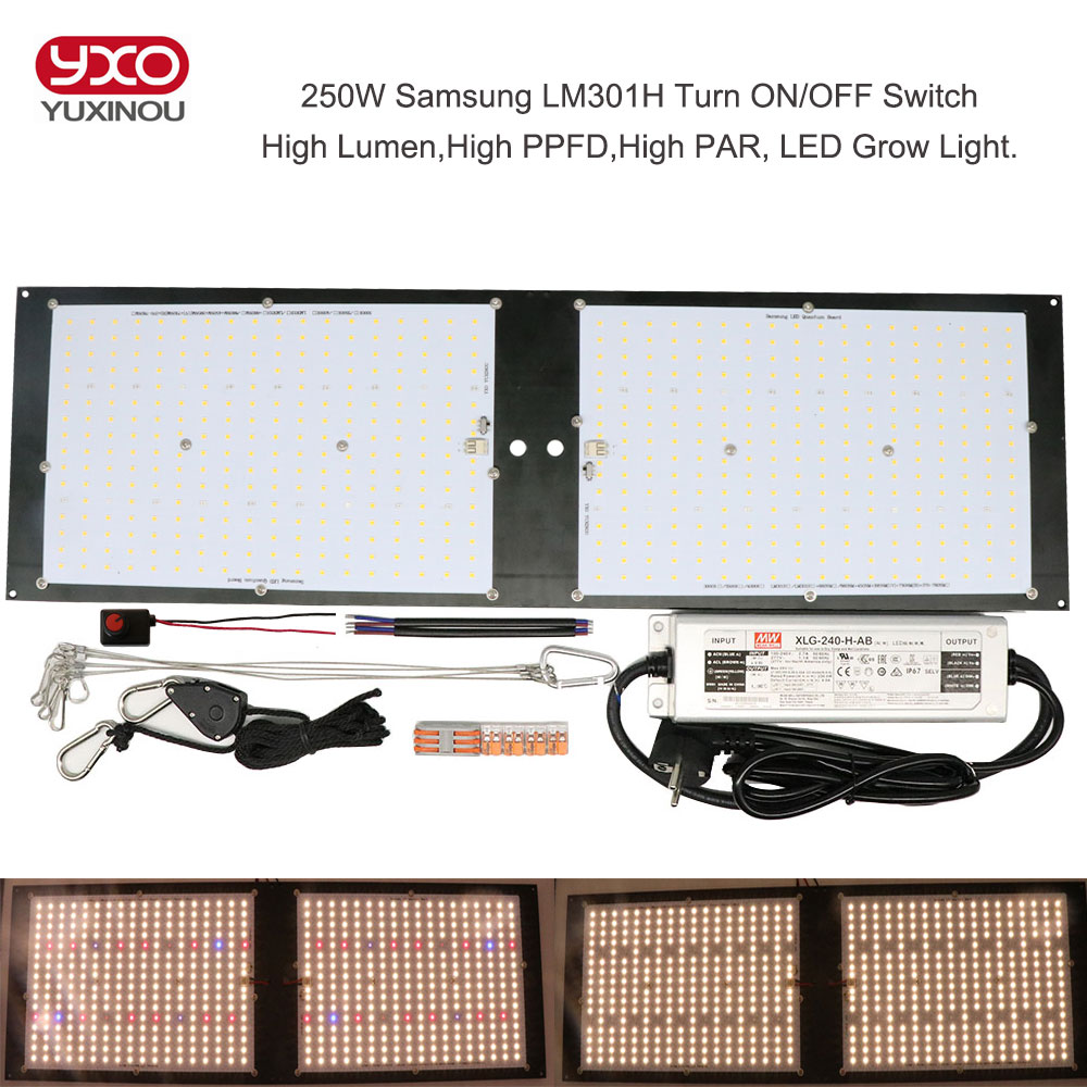 Dimmable LED Grow Light UV IR Quantum Tech LED Board Samsung LM301H V2 120W 240W 320W 480W With Meanwell Driver 7 Years Warranty