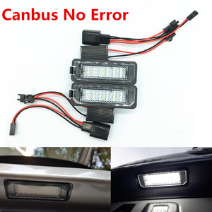 12V 3W LED Number License Plate Light Lamp canbus no error For vw Passat B6 CC Eos Golf 4 5 6 7 MK7 Polo Superb Seat Leon Altea