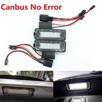 цена на 12V 3W LED Number License Plate Light Lamp canbus no error For vw Passat B6 CC Eos Golf 4 5 6 7 MK7 Polo Superb Seat Leon Altea