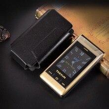"""ของขวัญ 3.0 """"Dualหน้าจอโทรศัพท์มือถือSpeed Dial One Key SOS Call FMอาวุโสTouchโทรศัพท์มือถือรัสเซียคีย์บอร์ดTKEXUN G10"""