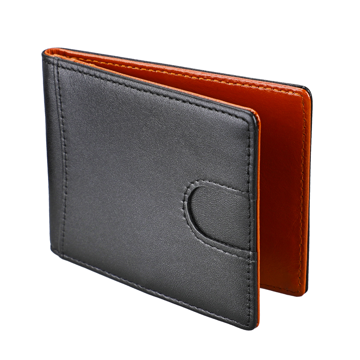 Money Clip Luxury Genuine Leather Slim Short  RFID Cute Thin Front Pocket Male Credit Card Purse Wallet For Men And Women