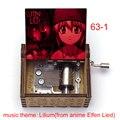 Креативная цветная печать Аниме Elfen Lied музыкальная тема Lilium Люси печать 18-Note деревянная музыкальная шкатулка музыкальные игрушки для детей ...