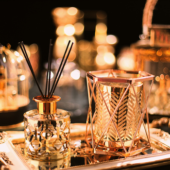 Luxury Gold Plant Incense Aroma Diffuser  2