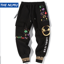 2020 Harajuku Joggers Sweatpants Men Hip Hop Black Ankle-Length Pants Streetwear